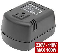 Step Down <b>Voltage Converter 220v to</b> 110v US 100VA 100 Watts ...