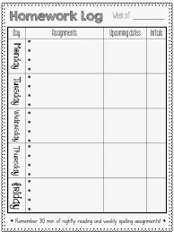 Homework Sheet Template For Teachers Homework Logs Makes My Job Easier Homework Classroom Homework Log