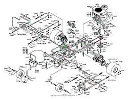 dixon ztr 5421 1995 parts diagram for wiring assembly chassis assembly