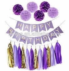 Purple Happy Birthday Banner Happy Birthday Banner Purple Lavender Glitter Gold Baby Shower