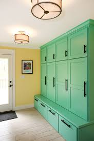 Long Storage Cabinet Long Narrow Green Mudroom Bench With Tall Storage Doors Feat Drum