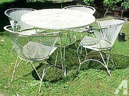 White wrought iron furniture Deck Wrought Iron Patio Tables Shabby Vintage White Wrought Iron Patio Set For Sale In Grants Rachidinfo Wrought Iron Patio Tables Rachidinfo