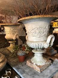 cast iron urns garden antiques