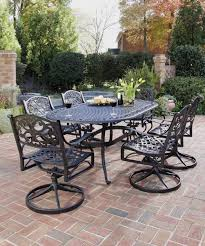 black wrought iron outdoor furniture. Wrought Iron Patio Furniture 7 Piece Outdoor Dining Set Black Within Luxury Cast