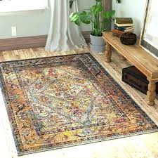 orange and green area rugs brown rug blue