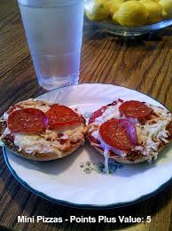 healthy mini pizzas weight watchers points plus value of 5