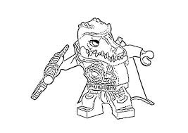 Small Picture Cragger the Prince of the Crocodile Tribe in Lego Chima Coloring