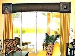 patio door valance sliding glass windows for patios stylish valances doors wood cornice