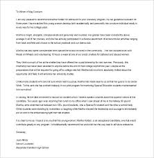sample letter of recommendation for college application college application recommendation letter magdalene