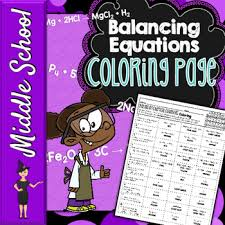 Small Picture Balancing Chemical Equations Coloring Page Equation Chemistry