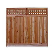 w western red cedar checker lattice top fence
