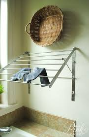 Pull Out Coat Rack Interesting Superb Wall Mounted Drying Rack In Laundry Room Farmhouse With
