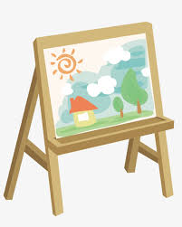 canvas and easel canvas painting tool png and vector