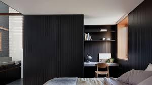 Charcoal Sheet Wall Design Point Lonsdale Studio Dark Tone Beach House Decor