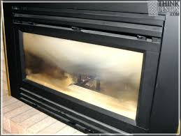 clean gas fireplace glass vinegar heatilator insert cleaner ideas