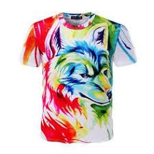 <b>KYKU Wolf T shirt Men</b> Long sleeve shirt Animal Cool New Hip hop ...