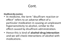 Disulfiram Reaction Drugs And Substances With Disulfiram Like Reactions