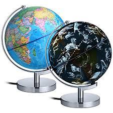 world globe on stand. AuAg Geographic Globes Night Lights, 8\ World Globe On Stand