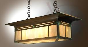 craftsman style light fixtures blacker house island handmade dining room fixture and lighting made exterior