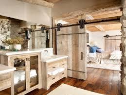 Cabin Bathroom Rustic Home Decorating Ideas Bathroom With Rustic Barn Door