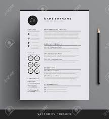Modern Minimalist Resume Free Template Professional Minimalist Resume Template Design Royalty Free