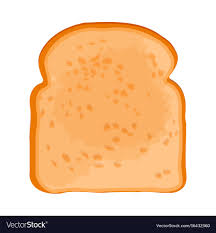 Closeup Of Slice Of Bread Isolated On Royalty Free Vector