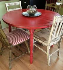 Round Country Kitchen Table Distressed Round Country Kitchen Table Table And Chairs Old