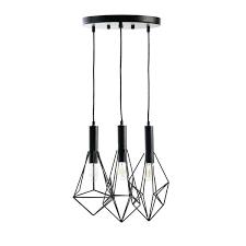 geometric pendant light cascade geometric pendant lamp with vintage bulbs geometric copper ceiling pendant light