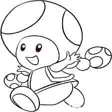 Toad Coloring Page And Coloring Coloring Pages And Coloring Page And
