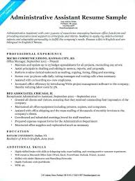 Administrative Assistant Resume Skills Executive Assistant Resume Unique Executive Administrative Assistant Resume