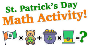 Image result for st patrick's day MATH CLIPART
