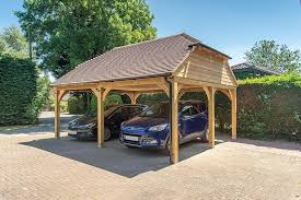a timber carport offers simple convenient covered parking for your car