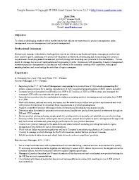 Manager Resume Objective Extraordinary Marketing Resume Objective Template Marketing Resume Examples