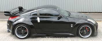 black nissan 350z modified. modified nissan 350z 19 inch volk racing split alloy wheels rims gloss black side body kit 350z 0