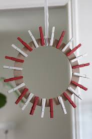 Clothespin Christmas Card Wreath Diy Catch My Party