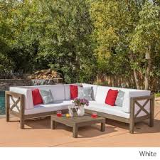 image modern wicker patio furniture. Brava Outdoor 4-Piece Wood Sectional Set W/ Cushions By Christopher Knight  Home Image Modern Wicker Patio Furniture