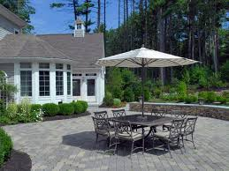 Contemporary Simple Patio Designs With Pavers Diy Network Throughout Decor