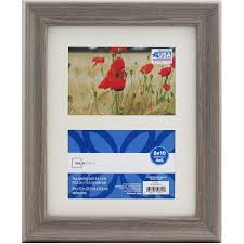 mainstays 8x10 matted to two 4x6 openings graywash picture frame com