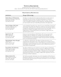 Reference List Resume Sample Reference Sheet For Resume Writing A Reference List For