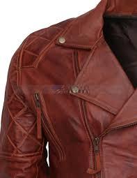 Discount Designer Mens Leather Jackets Designer Mens Brown Biker Leather Jacket