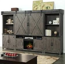 electric fireplace entertainment center with sliding barn doors door hardware