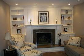 fireplace with bookshelves on each side ideas