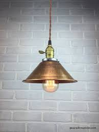 shade pendant lighting. copper shade lamp industrial pendant light metal ceiling l u2013 peared creation lighting