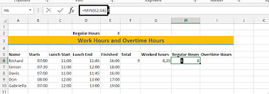 Excel Overtime Formula Best Excel Tutorial How To Calculate Overtime Hours
