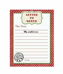 Blank Christmas List Blank Printable Christmas Wish List Santa Template Daily