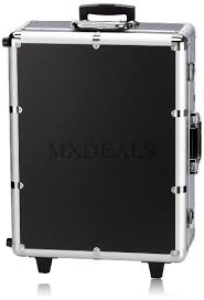 nyx makeup artist train case with lights extra large black silver 1 ounce
