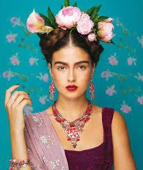 bow bridesmaid dress frida kahlo hair