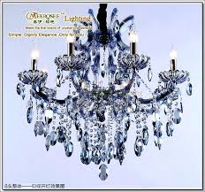 blue crystal chandeliers