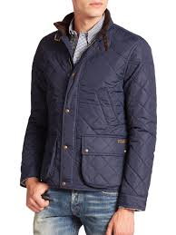 Polo ralph lauren Cadwell Quilted Bomber Jacket in Blue for Men   Lyst & Gallery Adamdwight.com