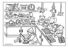 Speelgoedwinkel Kleurplaat Kleuters Dagmar Stam Groep 1 En Groep